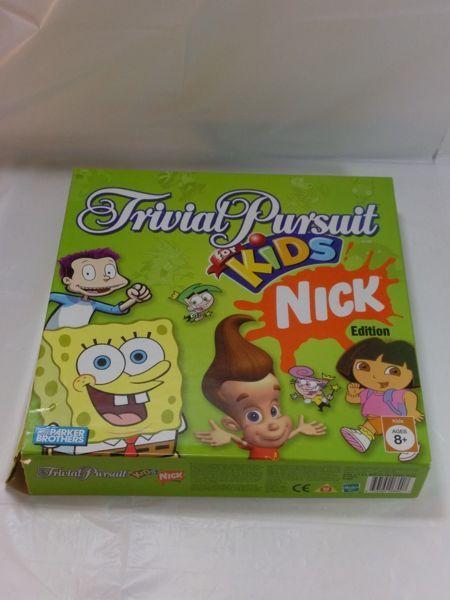 Trivial Pursuit Kids Nick Edition Game sealed cards 2005 Hasbro USA junior jr