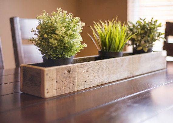 Rustic Contempary Reclaimed Wood  30 Planter by KindCreationsCoOp $20 www.etsy.com/shop/kindcreationscoop