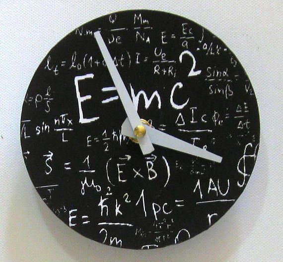 Wall clock.  Small wall clock. Einstein clock. Einstein