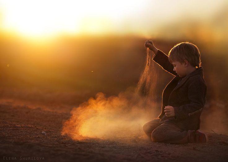 Photographies dElena Shumilova  ses enfants à la ferme