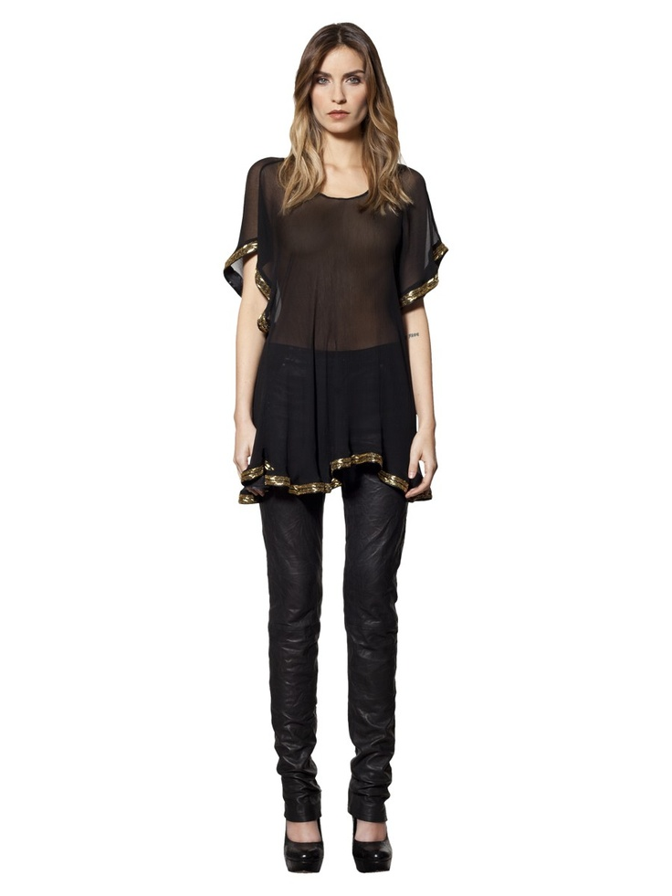 Sheer Beaded Blouse by Winter Kate