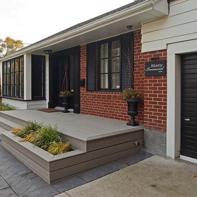 Tall Black Planters Garage Design Ideas, Pictures, Remodel, and Decor