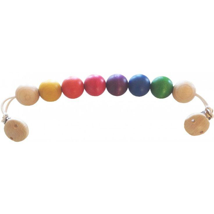 89:- Ekologiska Leksaker & Produkter för Barn & Föräldrar Barnvagnshänge med kulor, fruktfärg - Ekologiskt & Giftfritt - Rekolek