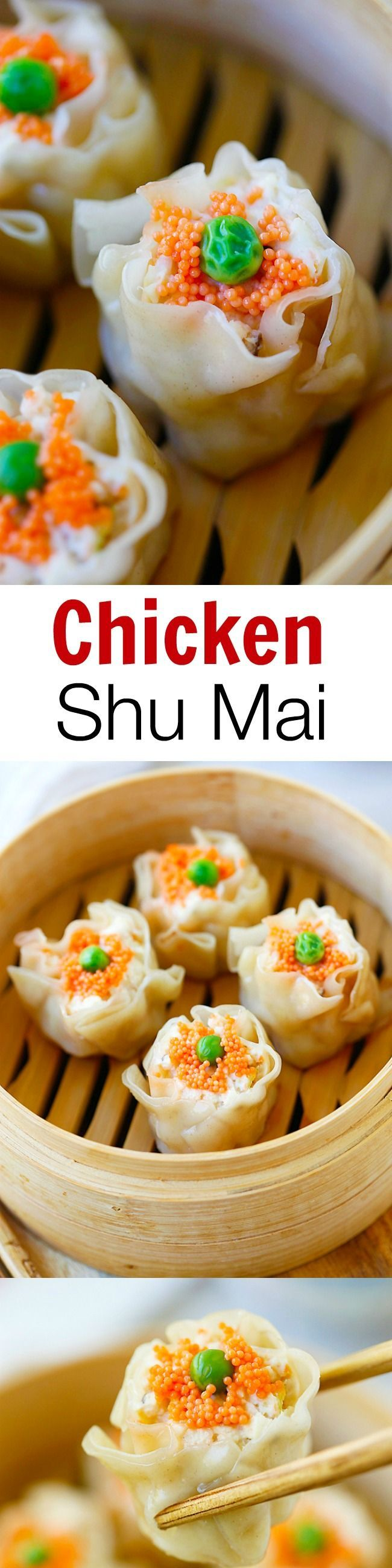 Chicken Shu Mai (Siu Mai) is a popular dim sum item. Learn how to make chicken shu mai with this quick and amazing recipe that is better than Chinatown!! | http://rasamalaysia.com