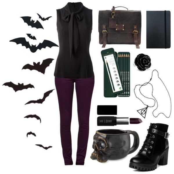 Corporate Goth by littlemissbatty on Polyvore featuring Dolce&Gabbana, Monkee Genes, yeswalker, Lord & Berry, Faber-Castell and Moleskine