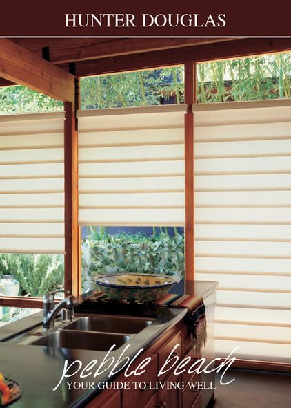 Contemporary Window Treatments   contemporary window treatments by Pebble Beach Design