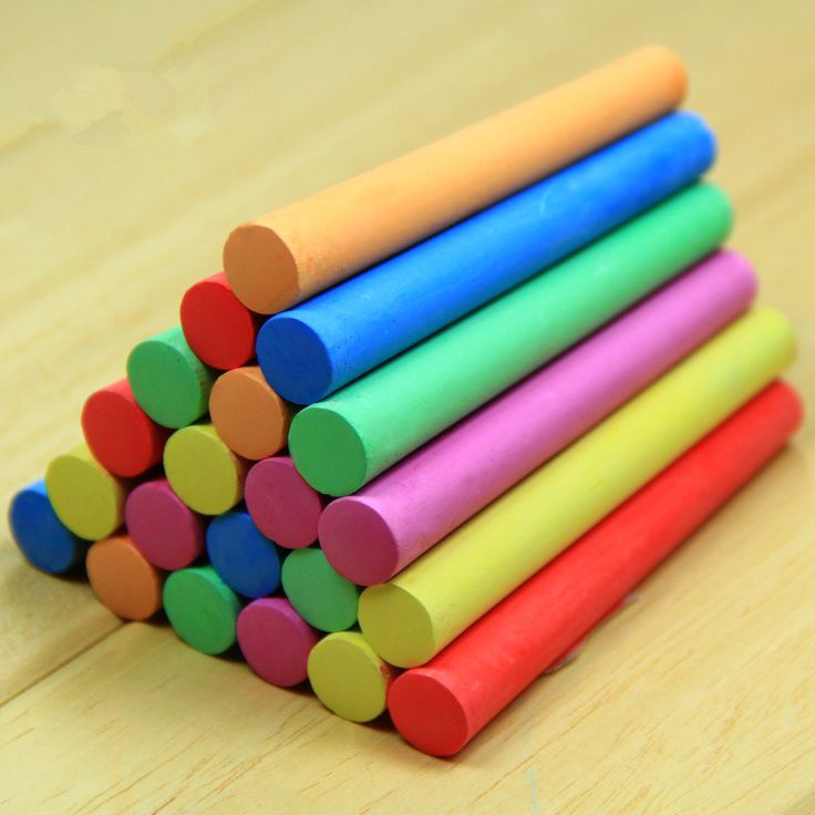 10 pcs/pack Korea Colorful Chalk non-beracun Kapur Kapur bebas Debu