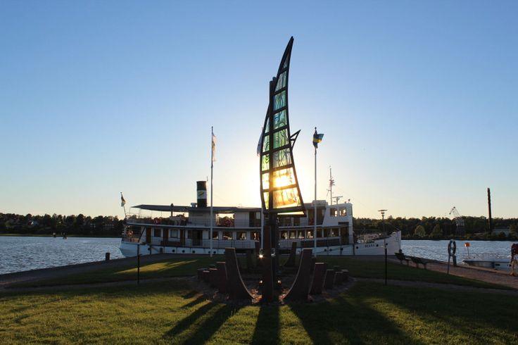 Zonsondergang in Vänersborg