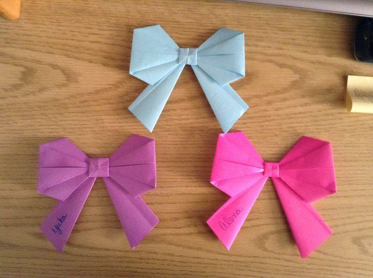 Origami Bow Door Decs #RA | Punny Crafts | Door decs, School door decorations, Summer door ... - photo#6
