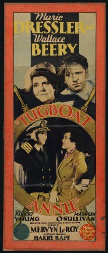 Wallace Beery, Maureen O'Sullivan, Robert Young, and Marie Dressler in Tugboat Annie (1933)