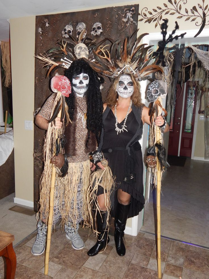 Our homemade witch doctor costumes for this Halloween!