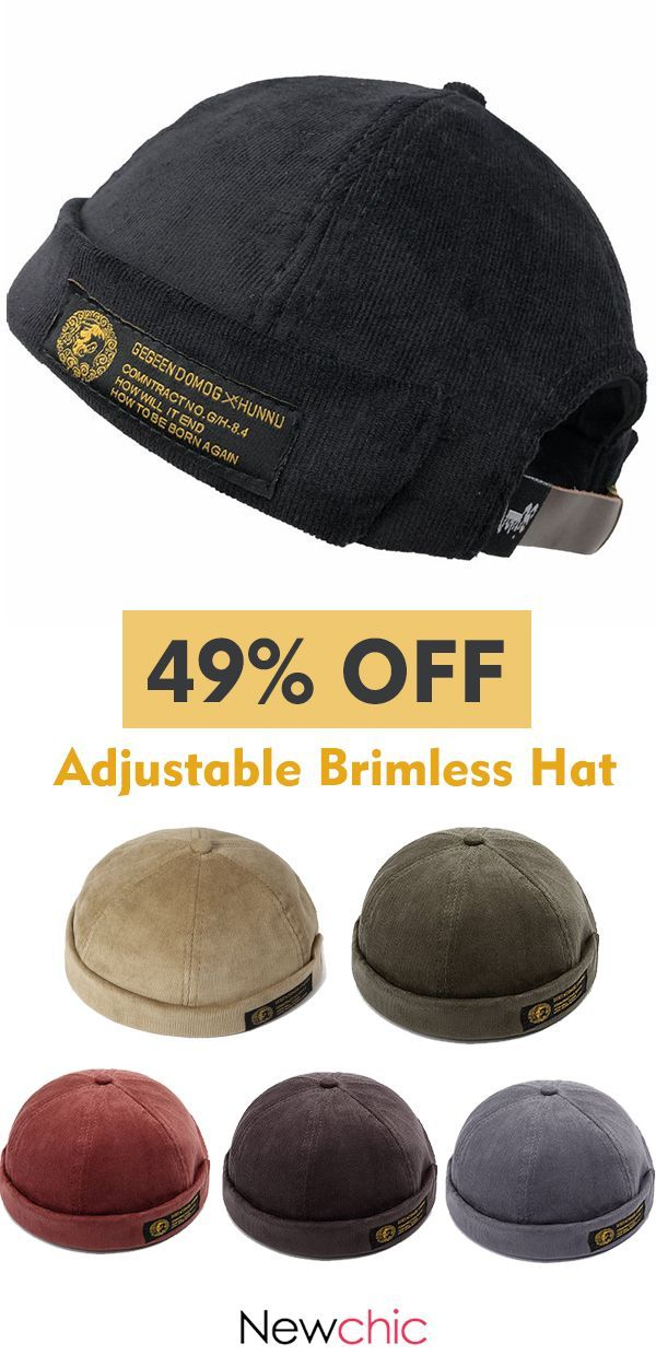 94e195f383ea3 Adjustable Brimless Hats Retro Vogue Crimping Bucket Cap  hat  vintage   style
