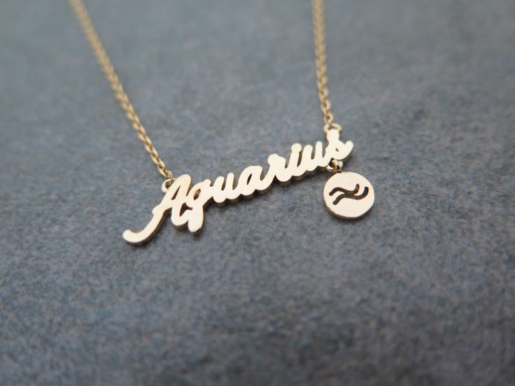 Mothers day gift ,Zodiac Constellation Necklace,Zodiac-sign, Aquarius / the Water Bearer (Jan 20 - Feb 18)   necklace with giftbox by MinimalBijoux on Etsy