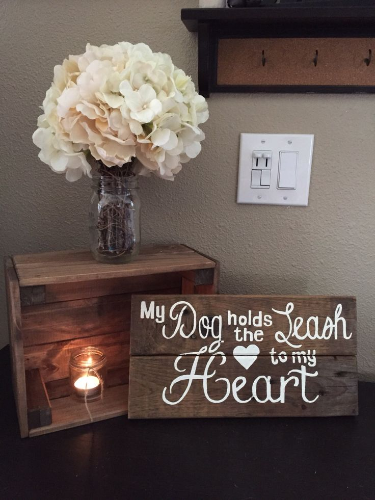Handmade My Dog Holds the Leash to My Heart Pallet Art Sign Decor Reclaimed Wood Pallet Wooden Pets Animal Lover Dog Puppies Hand Painted by ItIsAllInTheDetails on Etsy