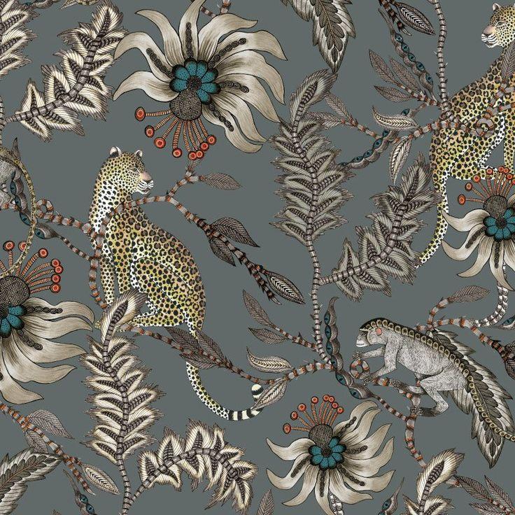 Monkey Bean Ash Fabric – Ardmore-Design