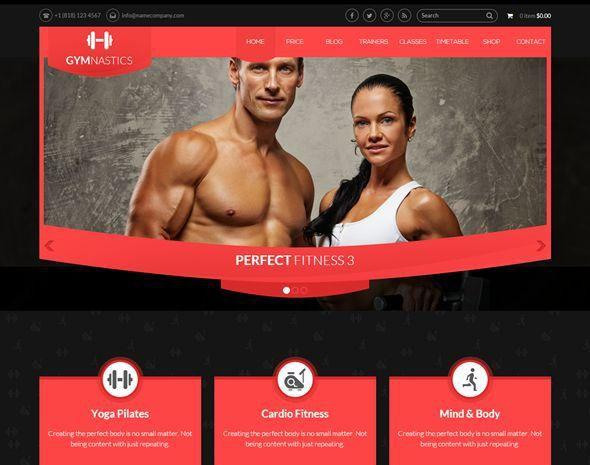 57 best website templates images on Pinterest Website template - fitness templates free
