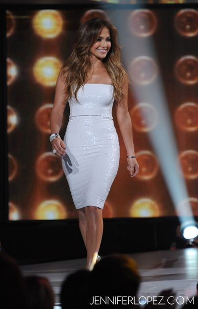 Jennifer Lopez at the first live taping of American Idol Season 11.