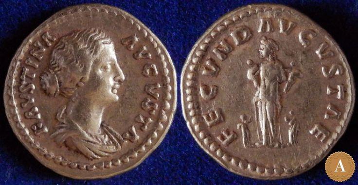 Римская империя, Фаустина Младшая, супруга Марка Аврелия, аурей. | ANDREY PYATYGIN ANCIENT COINS | Магазины | Антикварус