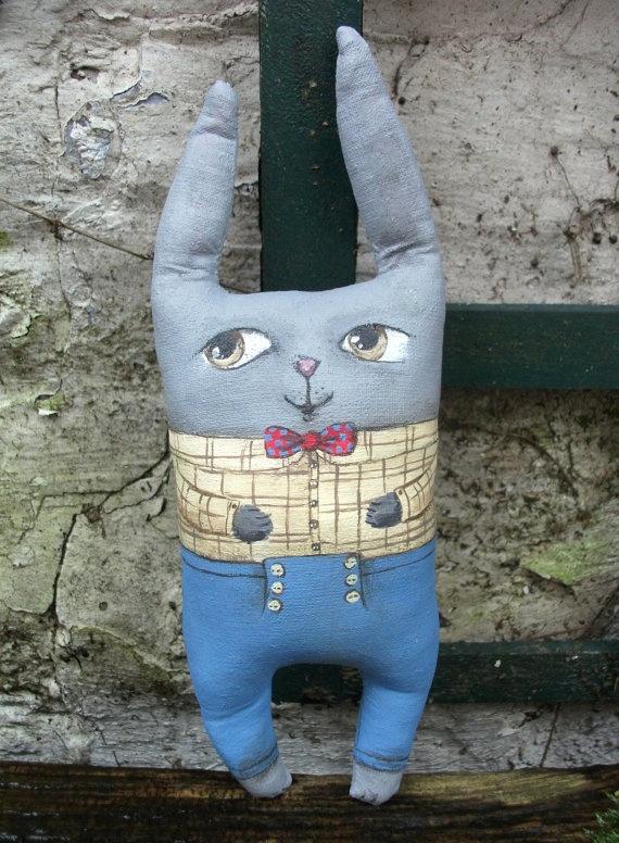 Archibald  Mister Rabbit ar doll by MademoiselleG on Etsy
