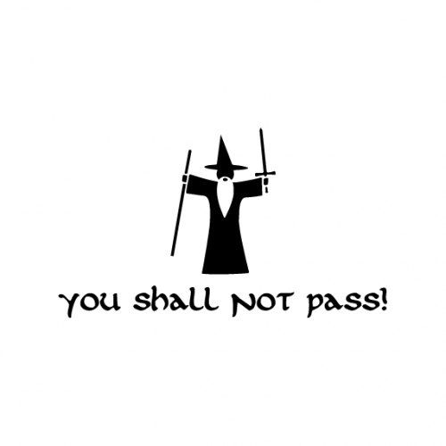 You Shall Not Pass  Lord of the Rings Funny Decal by DressXpress, $4.00