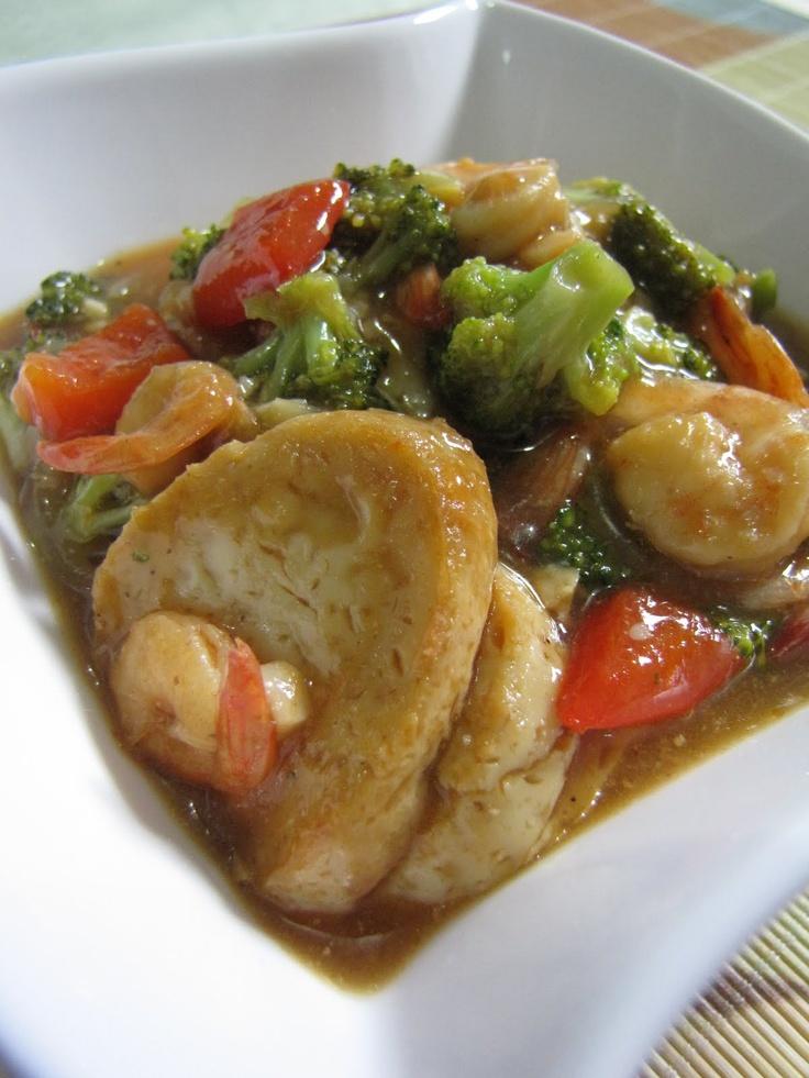 Tumis tahu dan brokoli
