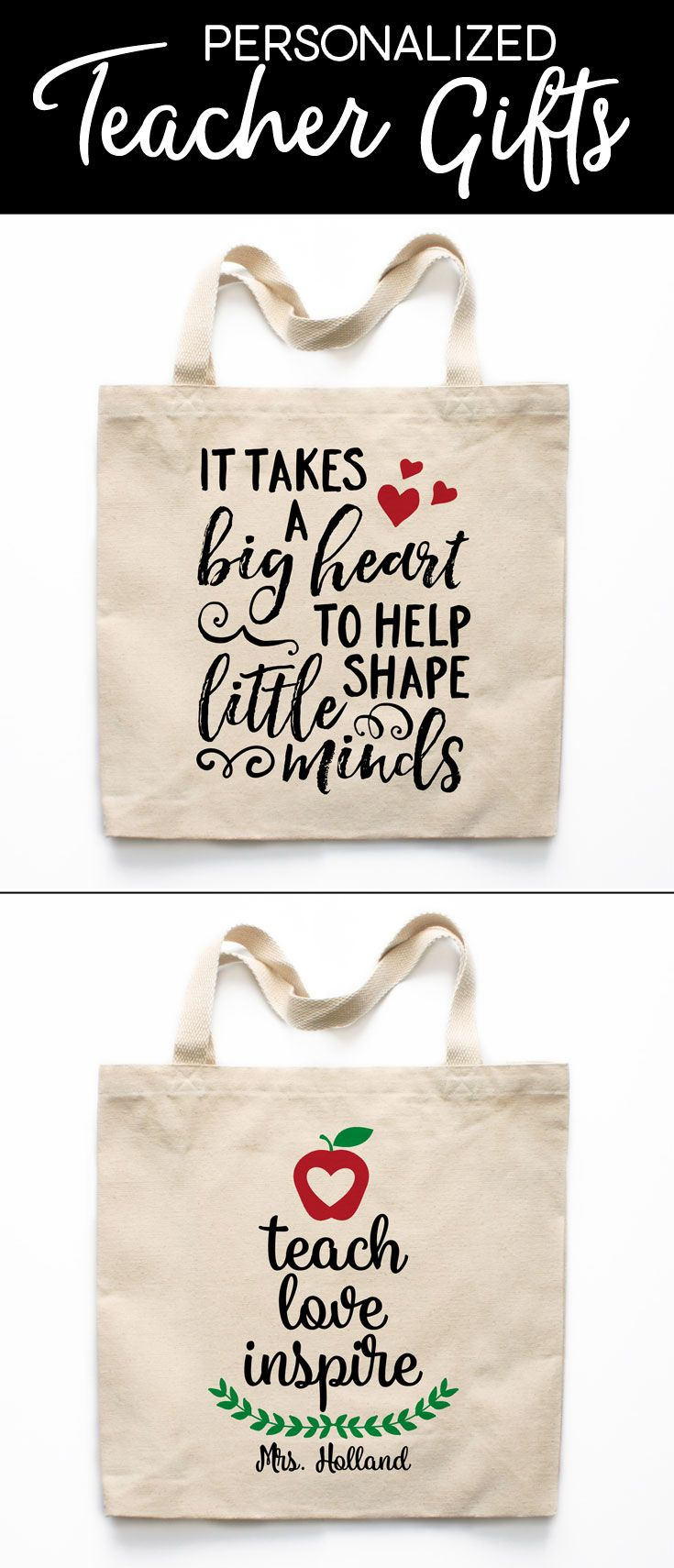 Personalized Teacher Gifts from Heart & Willow - Teacher Gifts, Teacher Mugs, Teacher Tote Bags, Teacher Magnets