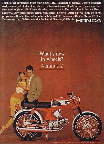Honda 1965 Playboy Advertisement Vintage MotorcyclesHonda