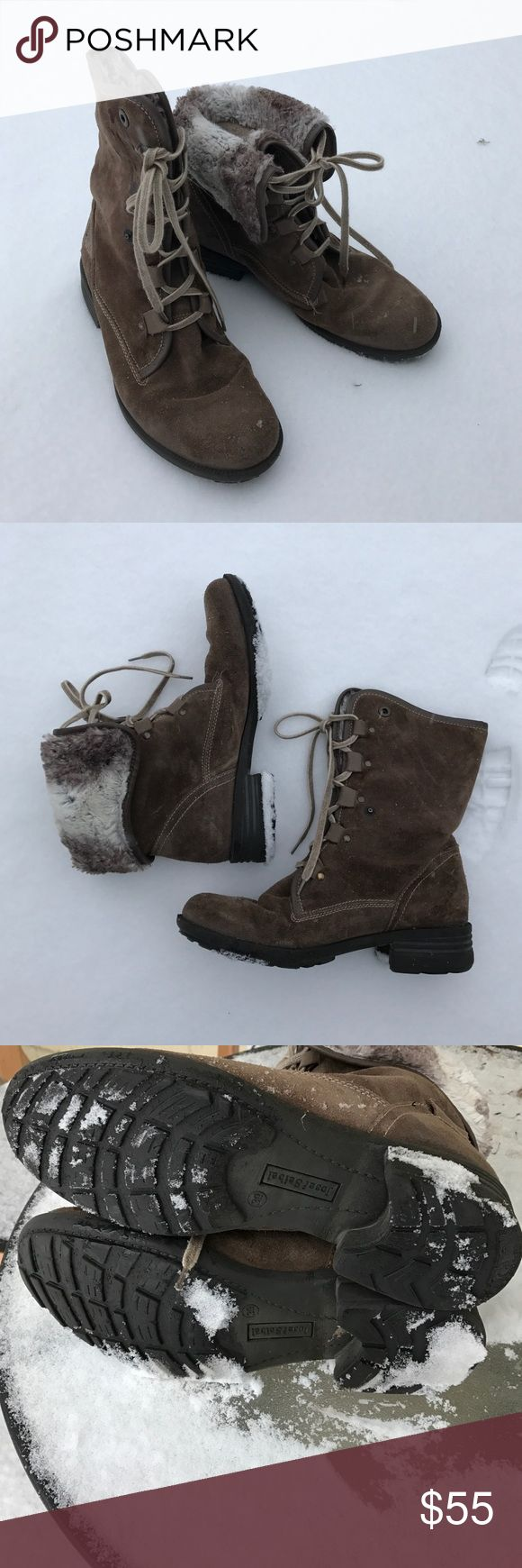 Josef Seibel suede cozy boot, 9/39 In great condition. No signs of wear. Convertible boot. Snaps into place. Extra comfortable! Josef Seibel Shoes