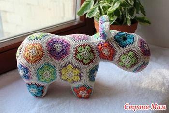Вяжем Цветочного Бегемота!!! - Вяжем вместе он-лайн - Страна Мам