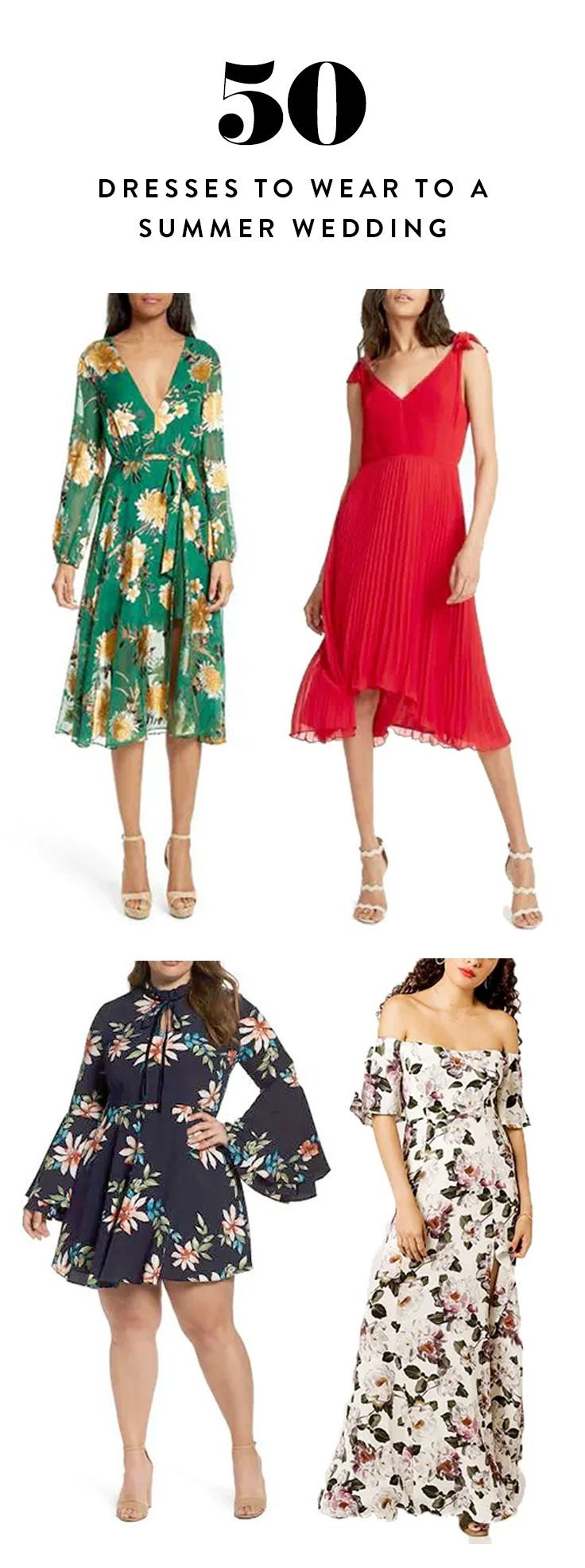 Here are 50 wedding guest dresses for every budget, location and dress code that should make this season a total breeze.
