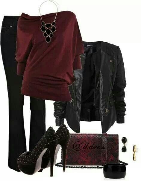Wow love this.... Blood red sexy rocker style!!!