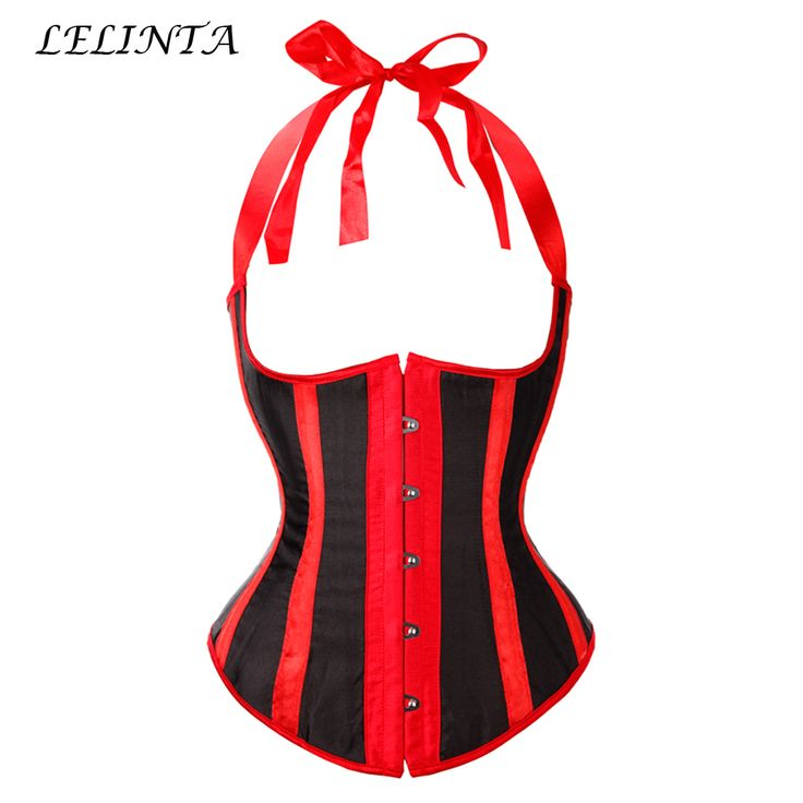 New Stripe Strap Sexy Women Plain Lace up Back Buckle Body Bustier Top Corset Poular Underbust Purple/White/Red Size S-6XL