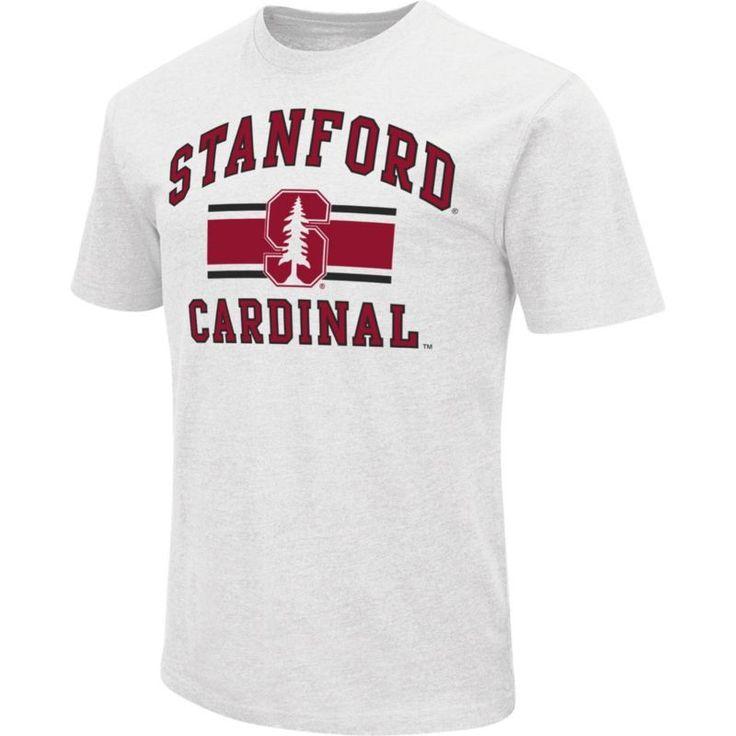 Colosseum Athletics Men's Stanford Cardinal White Dual-Blend T-Shirt, Size: XL, Team