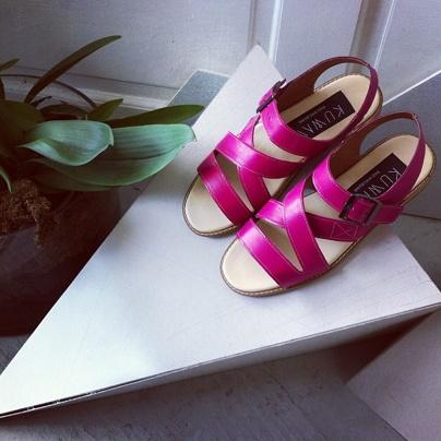 Custom Made KUWAII Cicada sandal in hot pink