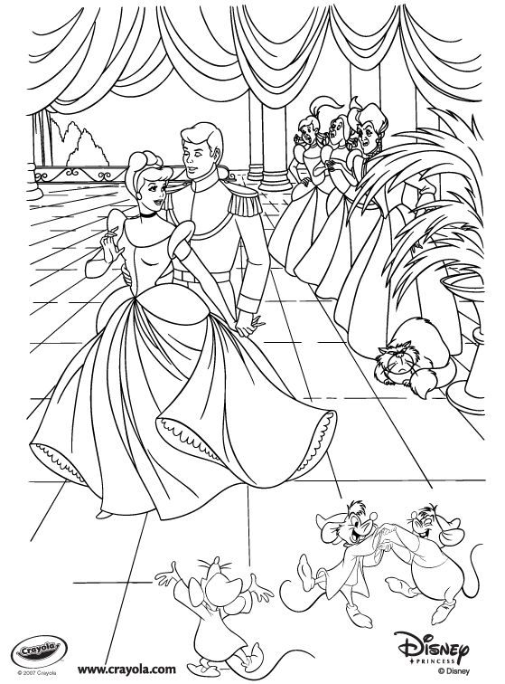 cinderella and the prince royal palace coloring pages princess cinderella coloring pages princess coloring - Disney World Coloring Pages Print