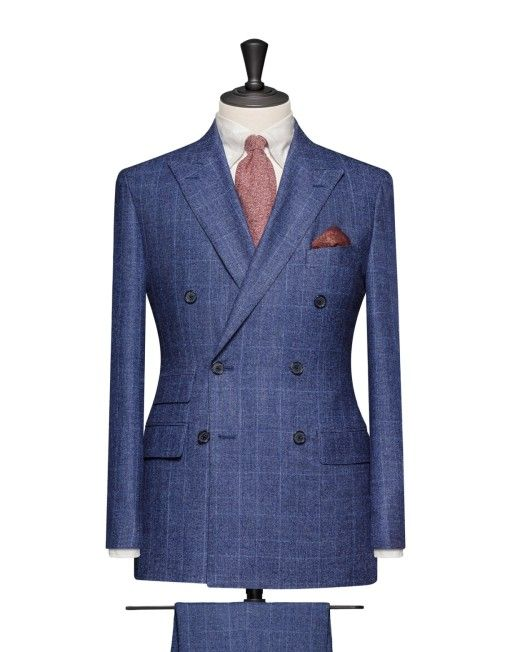 Tailored 2-Piece Suit - Fabric AR0029 Pinpoint Blue