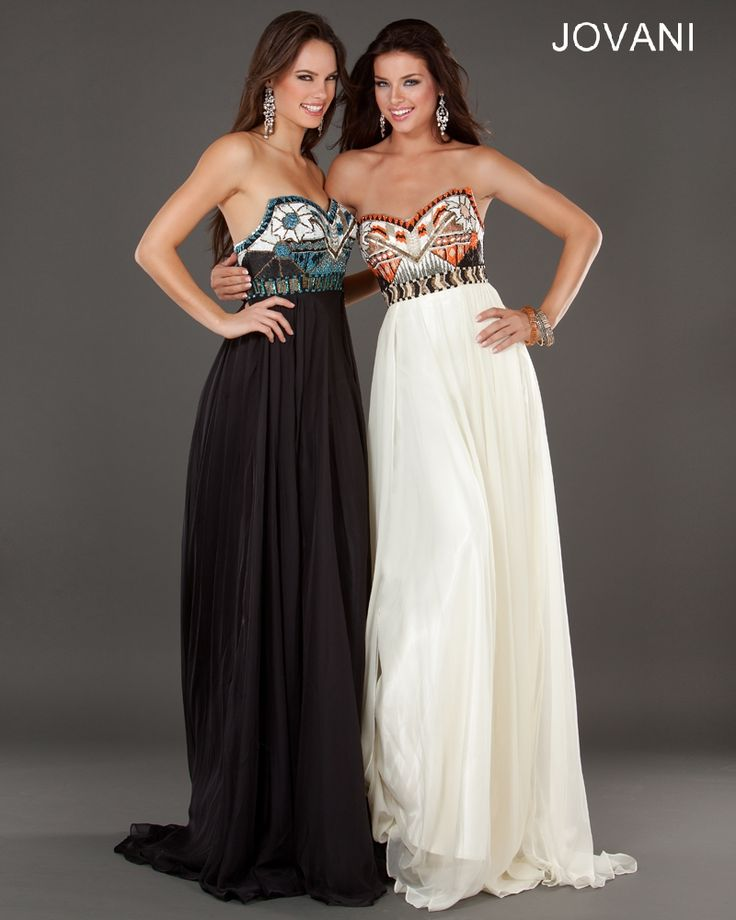 Jovani 7253 - Tribal beading top - love how different this prom dress is!