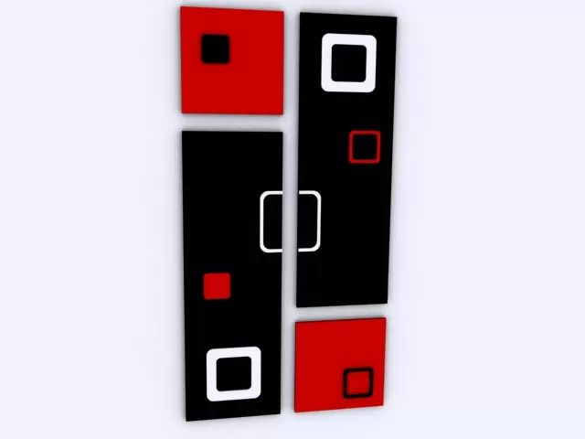 Cuadros Modernos Minimalistas Abstractos Relieve (cuadruple) - $ 530,00 en MercadoLibre