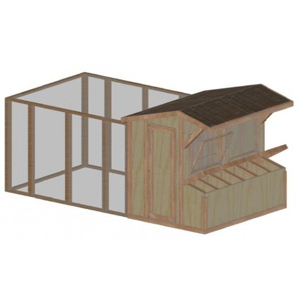 19 easy to follow chicken coop plans build your own coop for Plans for a chicken coop for 12 chickens