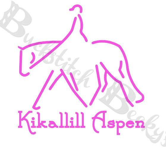 Personalized Hunter Under Saddle Horse Decal by BuckstitchBeckys. Your Choice of colors, font, and text!