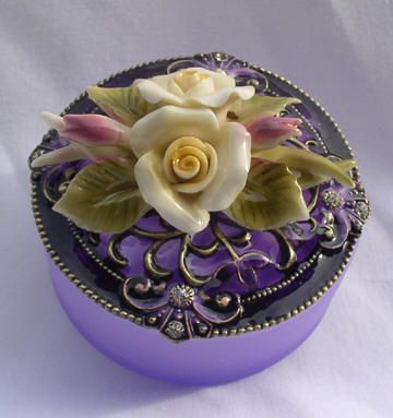 Lavender Trinket Box |Pinned from PinTo for iPad|