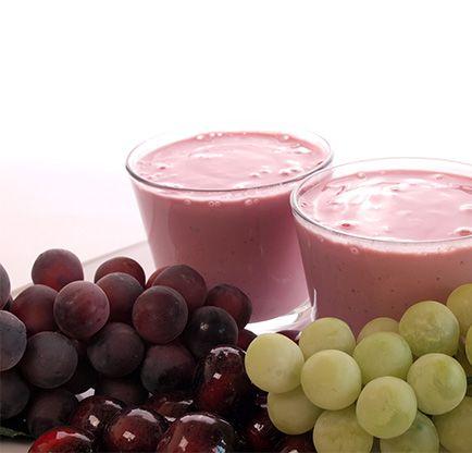 Smoothie de suco de uva integral com abacaxi - Mundo Verde