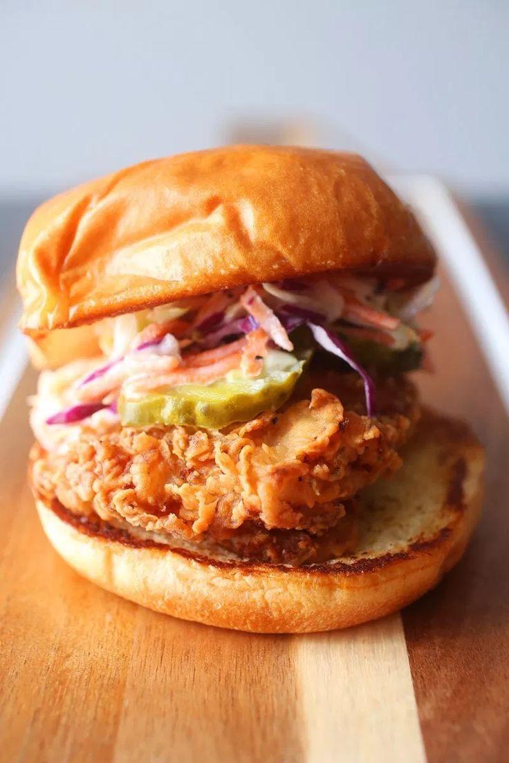 Spicy Buttermilk Fried Chicken Sandwich Brown Sugar Food Blog In 2020 Fried Chicken Sandwich Chicken Sandwich Buttermilk Fried Chicken