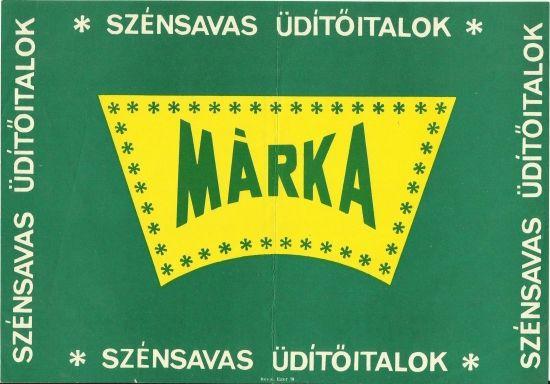 Original vintage advertising poster hungary 1970s marka soda