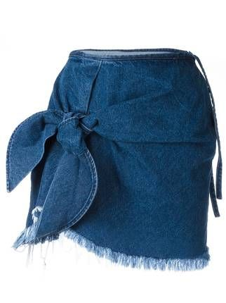 Marques'almeida knot detail denim skirt