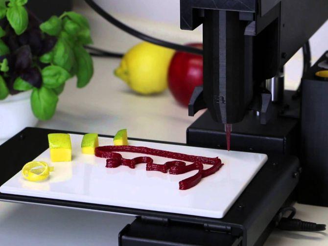See How Bocusini's 3D Printer Prepares Food
