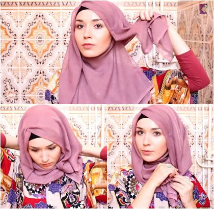 tutorial hijab segi empat - Penelusuran Google