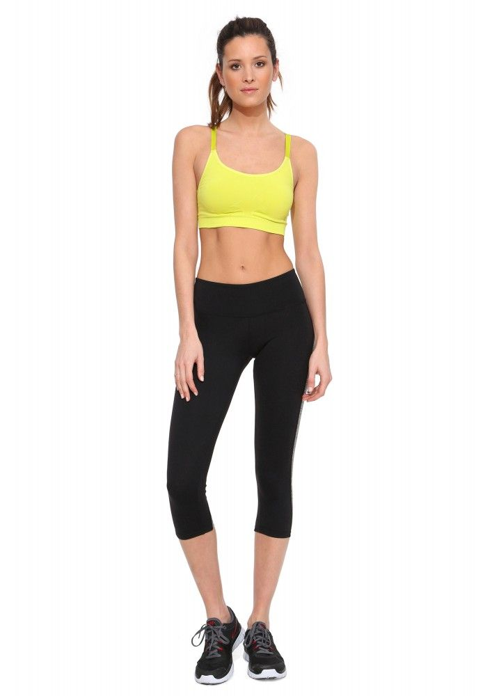 Nikki Sports Bra in Lime | Necessary Clothing