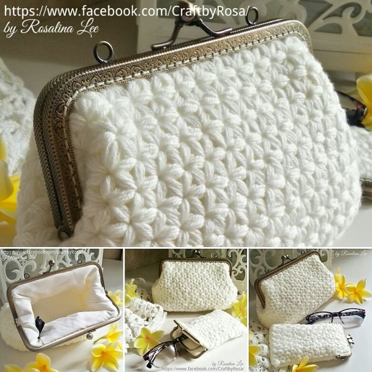 Crochet Frame Purse White Jasmine