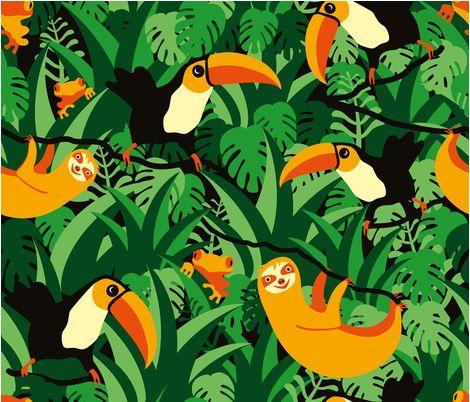 Rainforest fabric by sane-stücke on Spoonflower - custom fabric